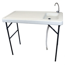 Palm Springs Folding Plastic Table with Sink + Tap